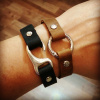 Leather Hook & Circle Clasp Bracelets